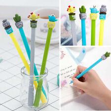 Randomly 2pcs 0.5mm Potted Plant Cactus Black Gel Ink Needlepoint Pen Stationery