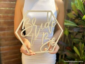 Wooden Hexagon Bride To Be Wedding Wall Sign Centrepiece - 40cm x 40cm