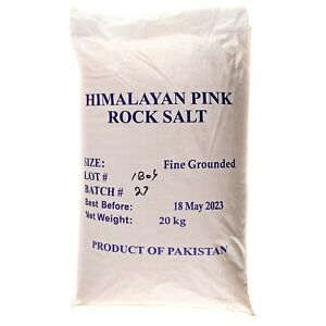 HIMALAYAN ROCK SALT FINE GROUNDED Cooking Salt 20 KG BULK  BAG
