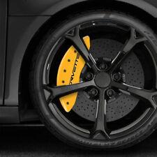 Yellow MGP Caliper Covers w/Corvette for 2005-2013 Chevy Corvette C6 [Set of 4]