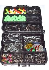 Attrezzatura da pesca mare Set in Scatola 597 PZ in Tackle Bit Box SWIVELS aggraffatori Ganci