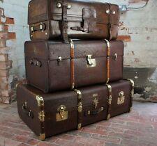 Belle Solide en Cuir Anglais Antique valise coffre par Army & Navy London