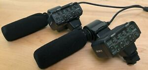 Set of Two Sony Camera Mounted Dual-Channel XLR Adapters with Shotgun Mics