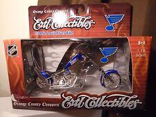 St Louis Blues 1/18 Diecast OCC Chopper 2005 Bike Ertl Collectibles Hockey