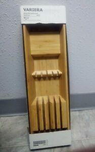 """VARIERA Knife Tray Bamboo 6x20"""" NEW"""