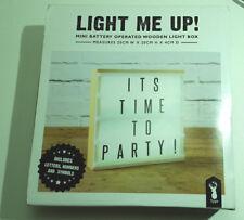 Light me up! Mini battery operated wooden light box! Mini light box RRP: $44.95