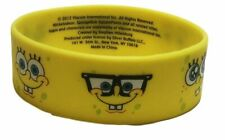 Spongebob Squarepants Funny Faces Yellow Silicone Bracelet Wristband