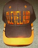 CLEVLAND BROWNS  Hat Cap Script Visor Embroidered Brown and orange #4 solid back