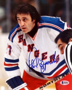 PHIL ESPOSITO AUTOGRAPHED SIGNED 8X10 PHOTO NEW YORK RANGERS BECKETT 115002