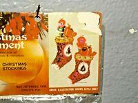 Vintage Walco PIXIE ELF CHRISTMAS STOCKINGS Bead Sequin Christmas Ornament Kit