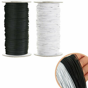 ROUND FLAT 2MM ELASTIC ROPE BUNGEE  STRING STRETCHABLE CORD DRESS MAKING CRAFT