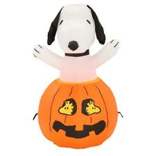 Snoopy on Top of a Jack-o'-Lantern Inflatable Decoration