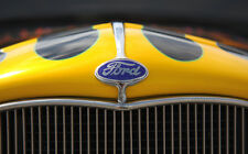 """FORD CLASSIC GRILLE BADGE A1 CANVAS PRINT POSTER FRAMED 33.1"""" x 21.4"""""""