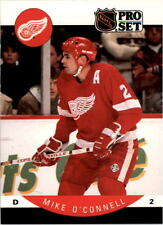 1990-91 PRO SET HOCKEY MIKE O'CONNELL CARD #75 DETROIT RED WINGS NMT/MT-MINT