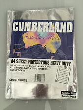 CUMBERLAND HEAVY DUTY SHEET PROTECTORS A4  Pack 25  POCKETS SP6135 TWQ