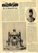 Ein Jubiläumsgeschenk für den Sultan der Türkei Text+Bilder von 1900