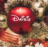 Personalised Name Sticker for Bauble Christmas Decoration Disney Style Custom