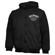 Jack Daniels Whiskey Bomber Jacket Jumper Coat Hoodie Embroidered Quilted lined