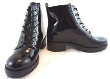 Black Ankle Boots NEW Womens Size 6 Girls Fashion Leather Shoes Accessories