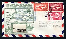 Portugal - 1939 First Flight Special  Airmail Cover, Lisbon to New York