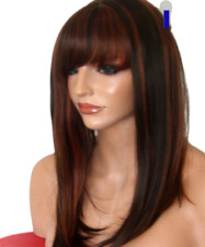 Brown Highlight Copper Wig Fashion natural straight wig Adult Women - I13