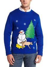 Alex Stevens Men's Sad Snowman Ugly Christmas Sweater Size Small