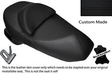 BLACK STITCH CUSTOM FITS SUZUKI UH 125 200 BURGMAN LEATHER DUAL SEAT COVER