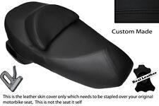 BLACK STITCH CUSTOM FITS SUZUKI UH 125 200 BURGMAN LEATHER DUAL SEAT COVER