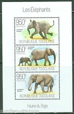 TOGO 2013 FAUNA OF TOGO THE ELEPHANTS  SHEET  MINT NH