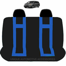 NEW BLUE & BLACK DBL STITCHED POLYESTER BENCH SEAT COVER 4PC SET FOR VANS 1920