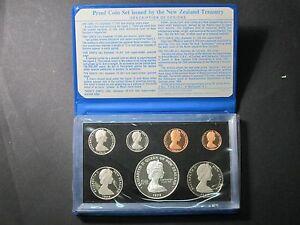 1978 NEW ZEALAND PROOF FERN DOLLAR 7 COIN SET ORIGINAL BOX & C.O.A 15,000 Made