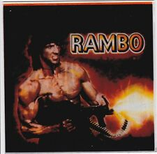Rambo 1980's Promotional light Box Display Glass Tile Near mint condition