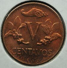 Colombia 5 Centavos 1964 9/9/9/9  Bronze Coin - KM-206 ERROR