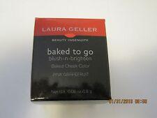 Laura Geller Baked To Go Blush N Brighten Pink Grapefruit Baked Cheek Color~Nbox