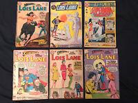 SUPERMAN'S GIRLFRIEND LOIS LANE Silver Age lot of 6 Comics: 40,51,52,92,107,169
