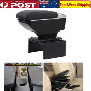 Soft Car Center Console Armrest Pad Storage Box Multifunctional Box PU Leather