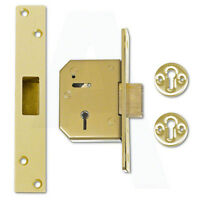 Union C-Series 3G115 5 Lever Mortice Door Deadlock 80mm Polished Brass