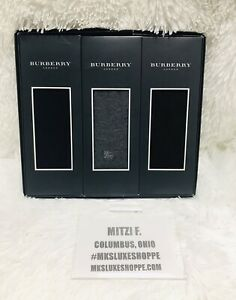 BURBERRY Men's 3 Pack Dress Socks- Sizes (25-26cm)-NEW In Package