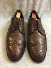 ALLEN EDMONDS MCGREGOR BRN LEATHER WINGTIP Men's Shoes Size 10.5 D 4554