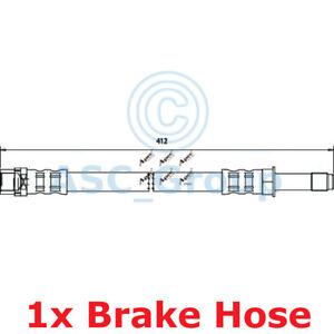 Apec BRAKING 412mm Bremsscheiben Bremssattel Flexible Gummi Schlauch HOS3538