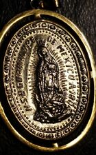 12g -14K Yellow Gold Mary Mother of God Miraculous Medal Large Solid Pendant
