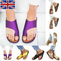Women Ladies PU Leather Beach Sandals Comfy  Shoes - Bunion Corrector