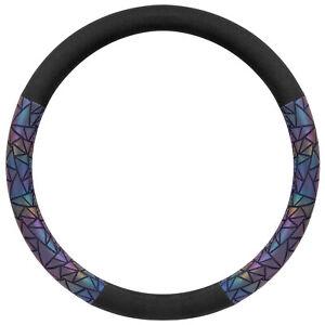 BDK Black Steering Wheel Cover for Women Cute Bling Prism Geometric