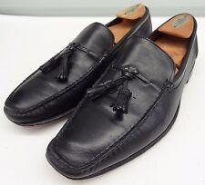$259 Allen Edmonds Pomona Black Calfskin leather driver tassle loafer Shoe 9.5 D