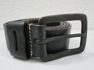 Mens American Eagle Black Leather Belt Size 34 Black Buckle