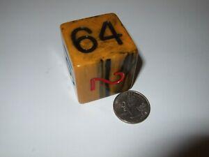 Vintage Backgammon Bakelite Doubling Cube Huge Oversized