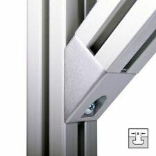 Winkelverbinder Profilverbinder 40x40 45 Grad Aluprofil Nut 8 aluf. lackiert