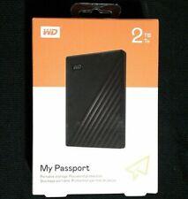 WD My Passport 2TB External USB 3.0 Portable Hard Drive Black Factory Sealed