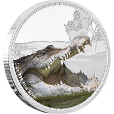 2017 Kings Of The Continents - Saltwater Crocodile Silver 1 oz Coin - New