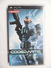 Import HK- jeu CODED ARMS en anglais sur sony PSP game spiel juego gioco fps jap